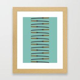 Pop Katana Framed Art Print