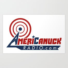 AmeriCanuckRadio.com Logo Art Print