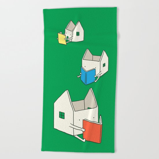 Every house has it's own story Beach Towel