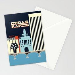 Cedar Rapids, Iowa Skyline Stationery Cards
