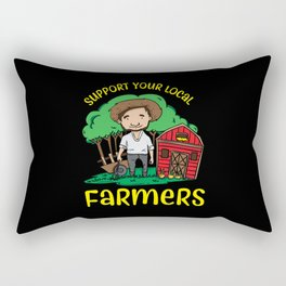 Support Your Local Farmers Rectangular Pillow