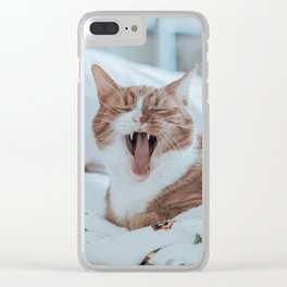 Yelling Cat Clear iPhone Case