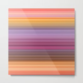 Hibiscus stripes Metal Print