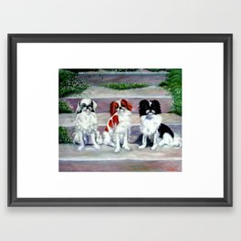Three cute puppies Framed Art Print