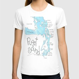 Puget Sound by Seattle Artist Mary Klump T-shirt