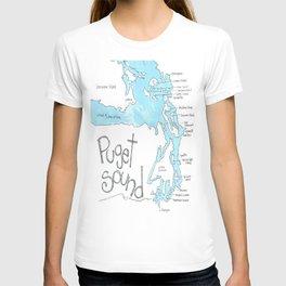 Puget Sound by Seattle Artist Mary Klump T-shirt