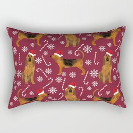 Bloodhound christmas candy canes and snowflakes holiday dog breed gifts Rectangular Pillow