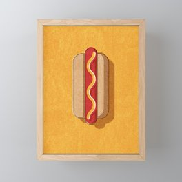 FAST FOOD / Hot Dog Framed Mini Art Print