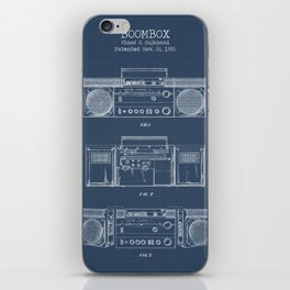 Boombox blueprints iPhone Skin