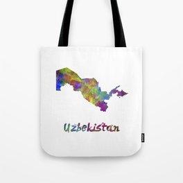 Uzbekistan  in watercolor Tote Bag