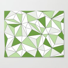 Geo - gray, green and white. Canvas Print