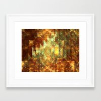 crystals Framed Art Prints featuring Crystals by Rhawrbhawrburr