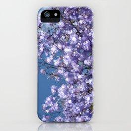 Purple Blossom iPhone Case