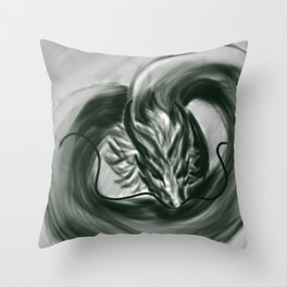 The One Wish Dragon Throw Pillow