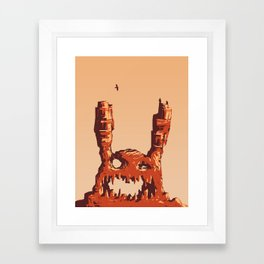 Rabbit Rock Framed Art Print