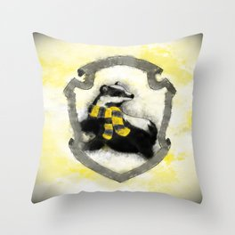 Hufflepuff Splatter Throw Pillow