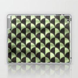 Wavy Palm Leaves - Pale Green - Classic Vintage Art Deco Pattern Laptop & iPad Skin