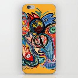 Yellow Life With Birds Street Art iPhone Skin