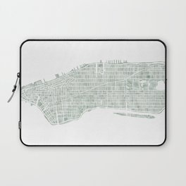 Map Manhattan NYC watercolor map Laptop Sleeve