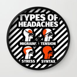 Syntax Funny Gifts for Syntactician Linguistics Humor Wall Clock