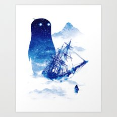 Abandon Ship Art Print