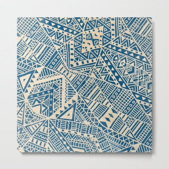 Tribal (blue)  Metal Print