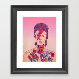 Rebel Bowie Framed Art Print