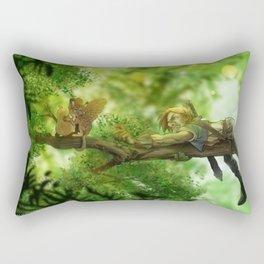 Just Out of Reach Fun Fantasy Illustration Rectangular Pillow