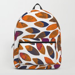Watercolor brush strokes - rusty effect Backpack