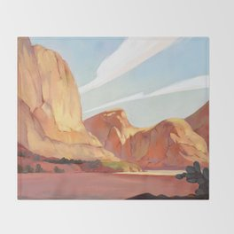 Desert Landscape Throw Blanket