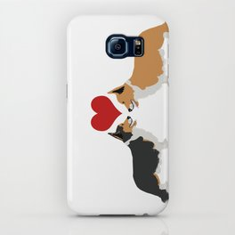Pembroke Welsh Corgi Dogs Art - two corgis in love iPhone Case