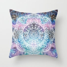 Mandala Dream | Watercolor Galaxy Painting Throw Pillow