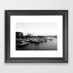 Boat Harbor. Mandurah, Western Australia Framed Art Print