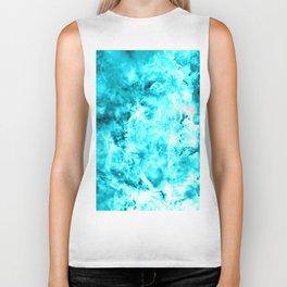 Turquoise Blue Carina Nebula Biker Tank