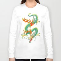 chinese Long Sleeve T-shirts featuring Chinese Dragon by J&C Creations