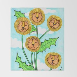 Dandy Lions Throw Blanket