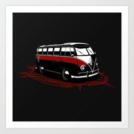 23 Window Bus Art Print