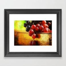 Autumn Grapes Framed Art Print
