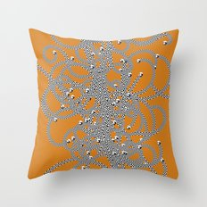 Effervescent Mercury Throw Pillow