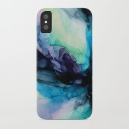 Sweet Pea Pastel Abstract Chaos | Calming Fluid Art iPhone Case