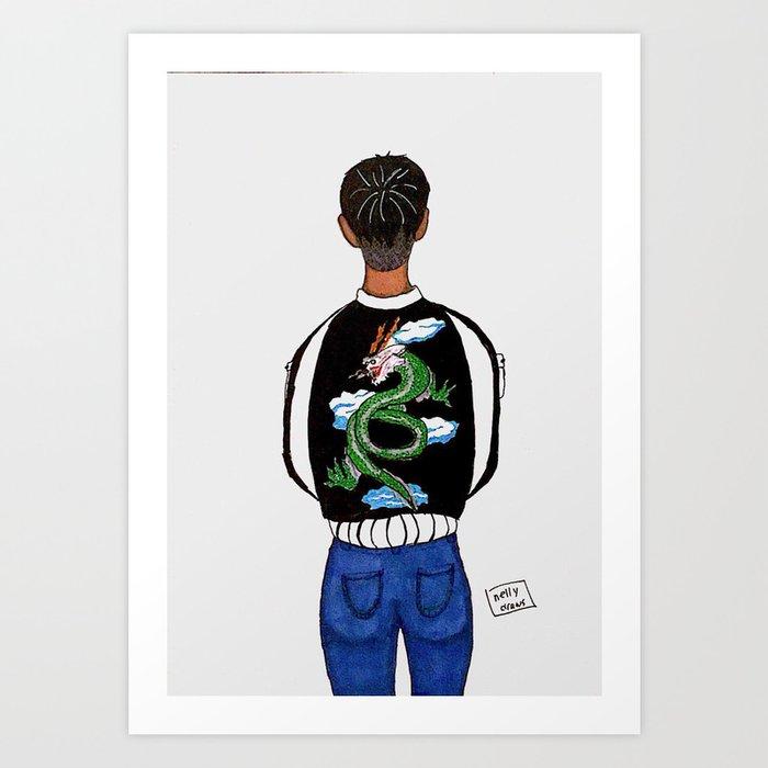 Bomber Jacket Art Print