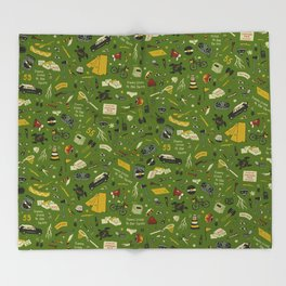 Moonrise Kingdom Plot Pattern Throw Blanket