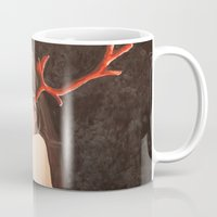 """antlers Mugs featuring """"Antlers"""" by Rory Eastman"""