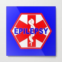 MEDICAL ALERT Epileptic SEIZURES Identification tag Metal Print