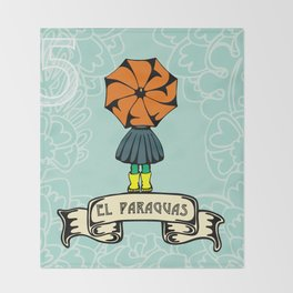 El Paraguas Throw Blanket