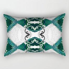 Resonant Jade Chamber of the Mind Rectangular Pillow