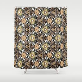 Abstract Doodle Pattern Shower Curtain