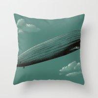 led zeppelin Throw Pillows featuring Zeppelin by Florent Bodart / Speakerine