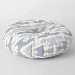 Mix of formal and modern with anemones and stripes 2 Floor Pillow