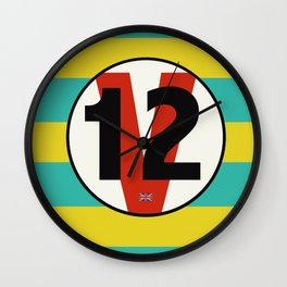 SRC Preparations Racecar Rebels: V12 British Wall Clock